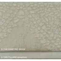 Κουρτίνες σαλονιού σετ με το μέτρο Simetric 2-1195 Beige