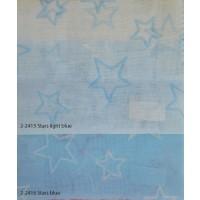 Κουρτίνες σετ γάζα με το μέτρο Stars blue 5991