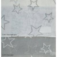 Κουρτίνες σετ γάζα με το μέτρο Stars grey 5991