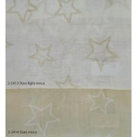 Κουρτίνες σετ γάζα με το μέτρο Stars moca 5991