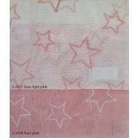 Κουρτίνες σετ γάζα με το μέτρο Stars pink 5991