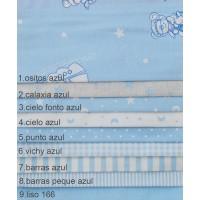 Υφάσματα λονέτες με το μέτρο bebe κομποζέ Estampada azul