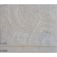 Κουρτίνες δαντέλες σετ με το μέτρο Lahore 2-1231 Ivory