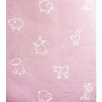 Ύφασμα λονέτα bebe ρόζ ζωάκια matilde 1 (με το μέτρο)