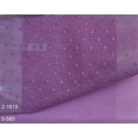 Κουρτίνες σετ δαντέλες-γάζα με το μέτρο Pua 2-1613 Purple