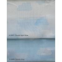 Κουρτίνες σετ γάζα με το μέτρο Clouds blue 5992