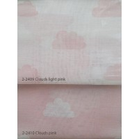 Κουρτίνες σετ γάζα με το μέτρο Clouds pink 5992