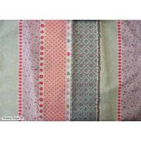 Ύφασμα φλοράλ ριγέ βαμβακοσατέν Fantasy stripe 09 με το μέτρο