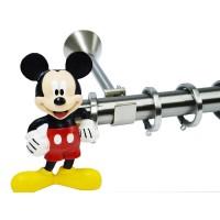Κουρτινόξυλο παιδικό Disney Mickey Φ 25mm nickel