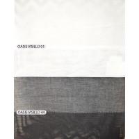 Ασπρόμαυρες κουρτίνες γάζες Oasis Visillo στα μέτρα σας