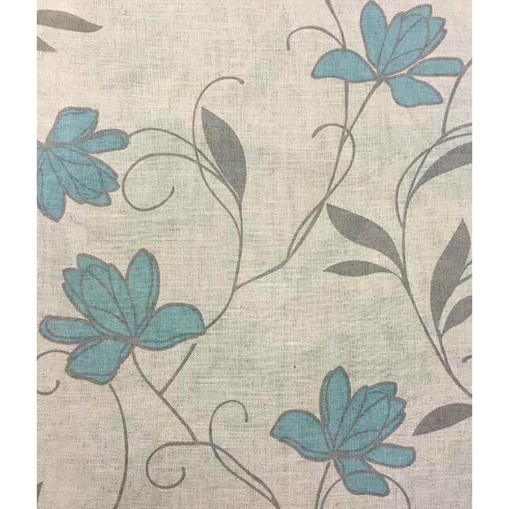 Κουρτίνες εμπριμέ Exotica blue 1-1961 με το μέτρο_2
