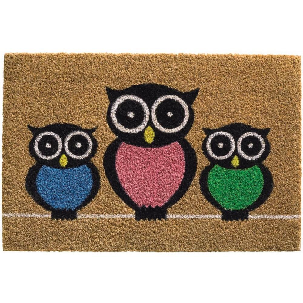Χαλάκια εισόδου Owls Ruco Print 417
