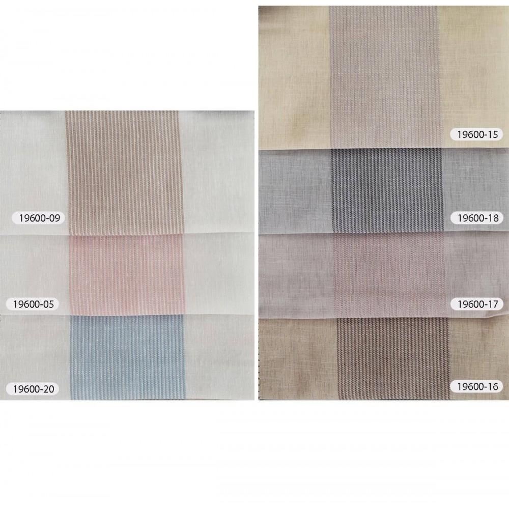 Κουρτίνες ριγέ ημιδιάφανες με το μέτρο 19600 χρωματολόγιο