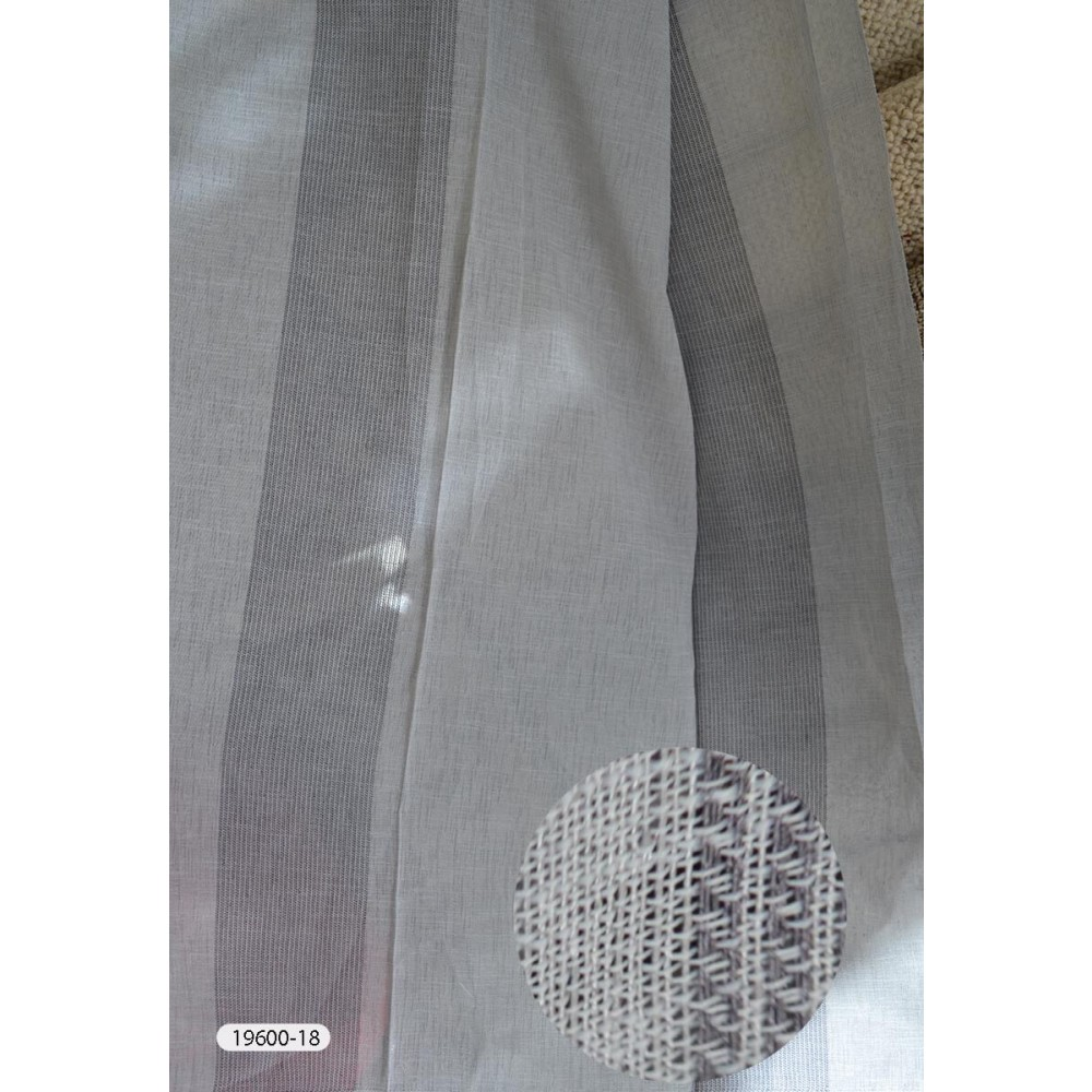 Κουρτίνες ριγέ ημιδιάφανες με το μέτρο 19600 λεπτομέρεια