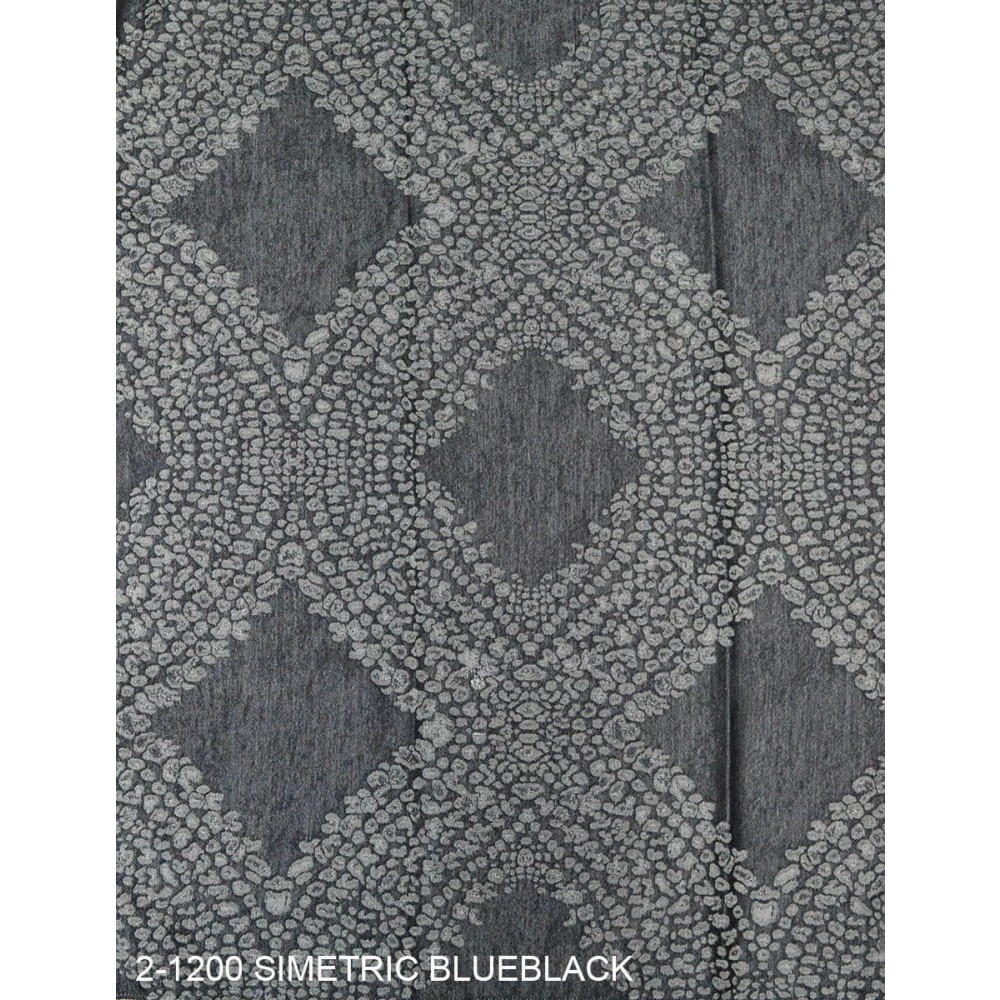 Ύφασμα ζακάρ με το μέτρο Simetric 2-1200 Blueblack