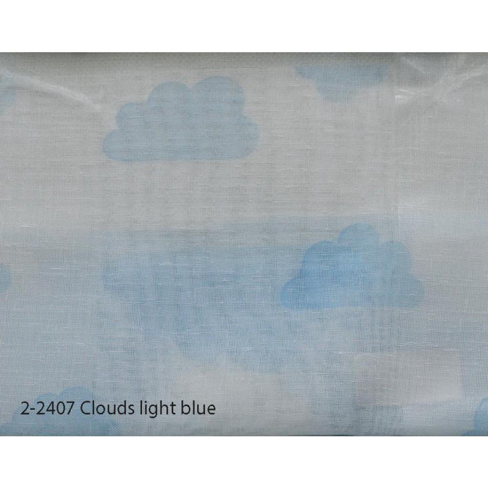 Κουρτίνα εφηβική με το μέτρο Clouds light blue 2-2407
