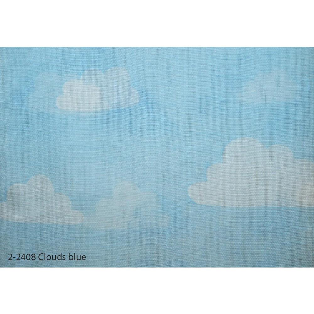 Κουρτίνα εφηβική με το μέτρο Clouds blue 2-2408