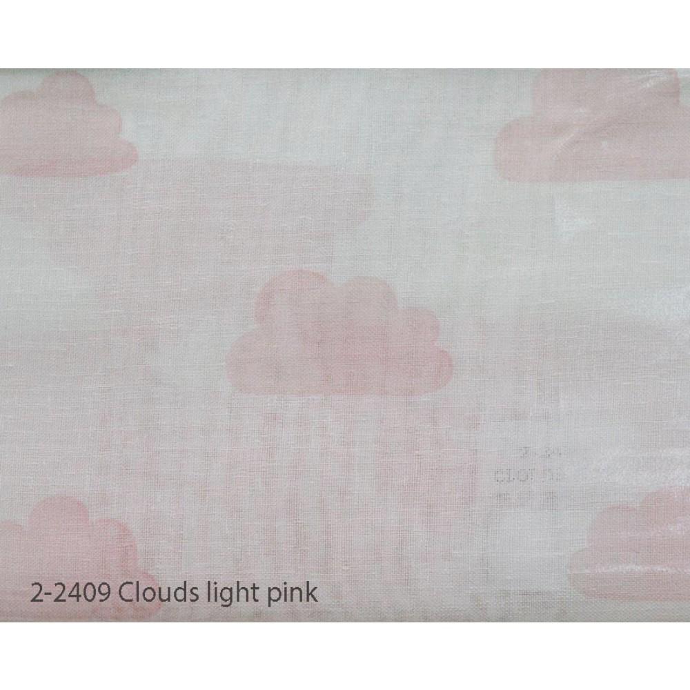Κουρτίνα εφηβική με το μέτρο Clouds light pink 2-2409