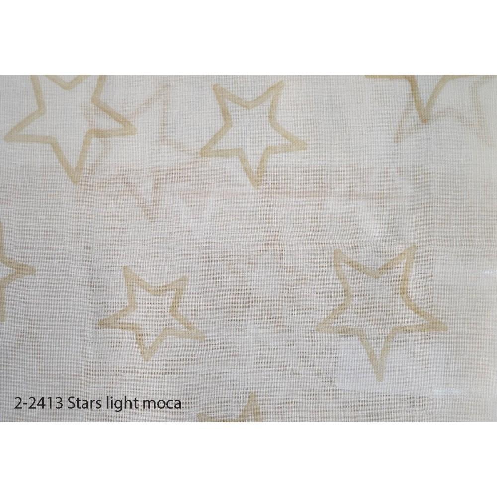 Κουρτίνα εφηβική με το μέτρο Stars light moca 2-2413