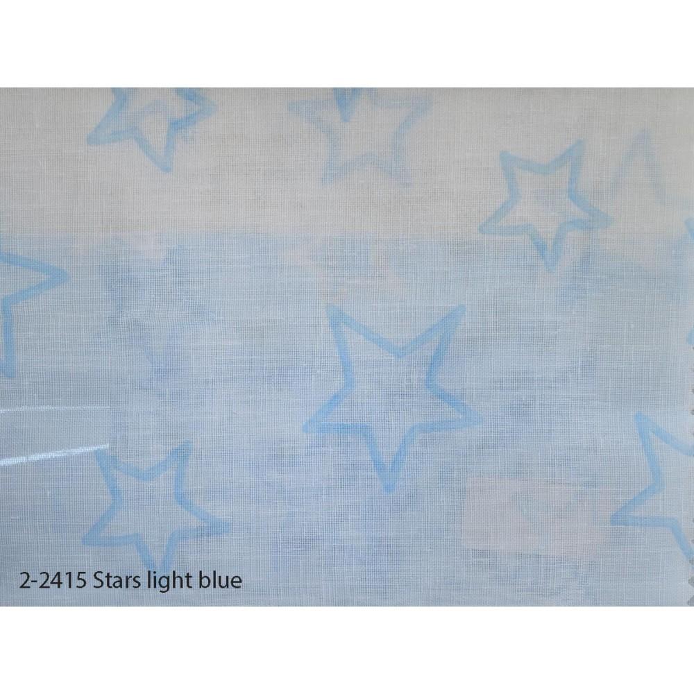 Κουρτίνα εφηβική με το μέτρο Stars light blue 2-2415