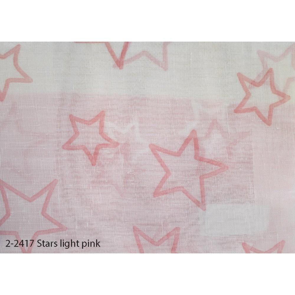 Κουρτίνα εφηβική με το μέτρο Stars light pink 2-2417