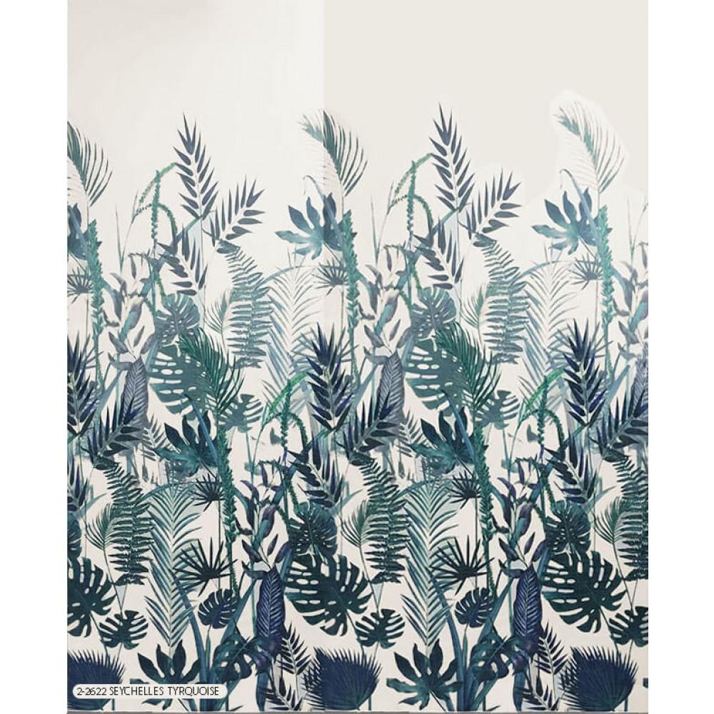 Κουρτίνα εμπριμέ 2-2622 Seychelles tyrquoise