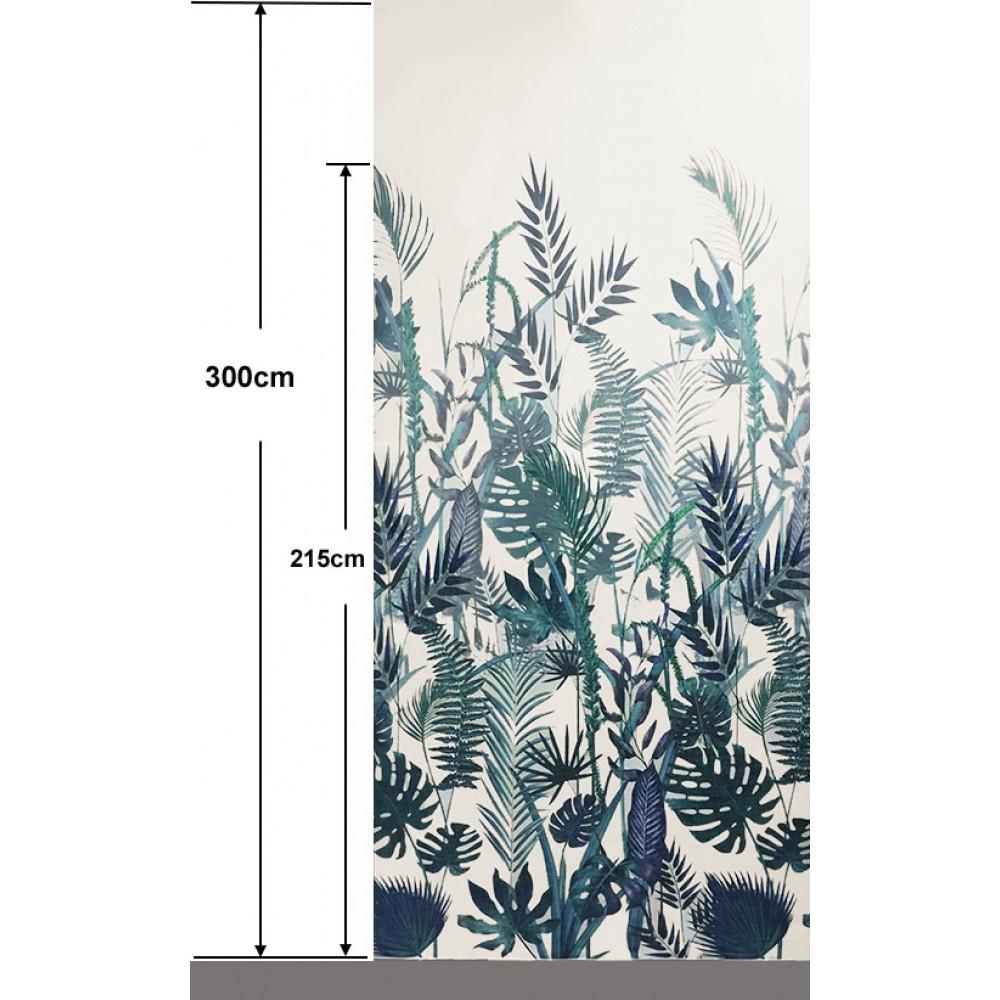 Κουρτίνα εμπριμέ 2-2622 Seychelles tyrquoise _1