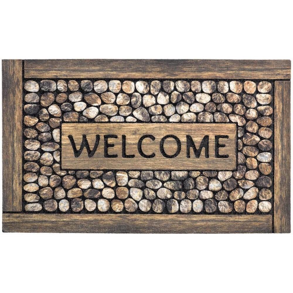 Χαλάκια εισόδου Ecomat 020 welcome framed pebbles 45x75cm