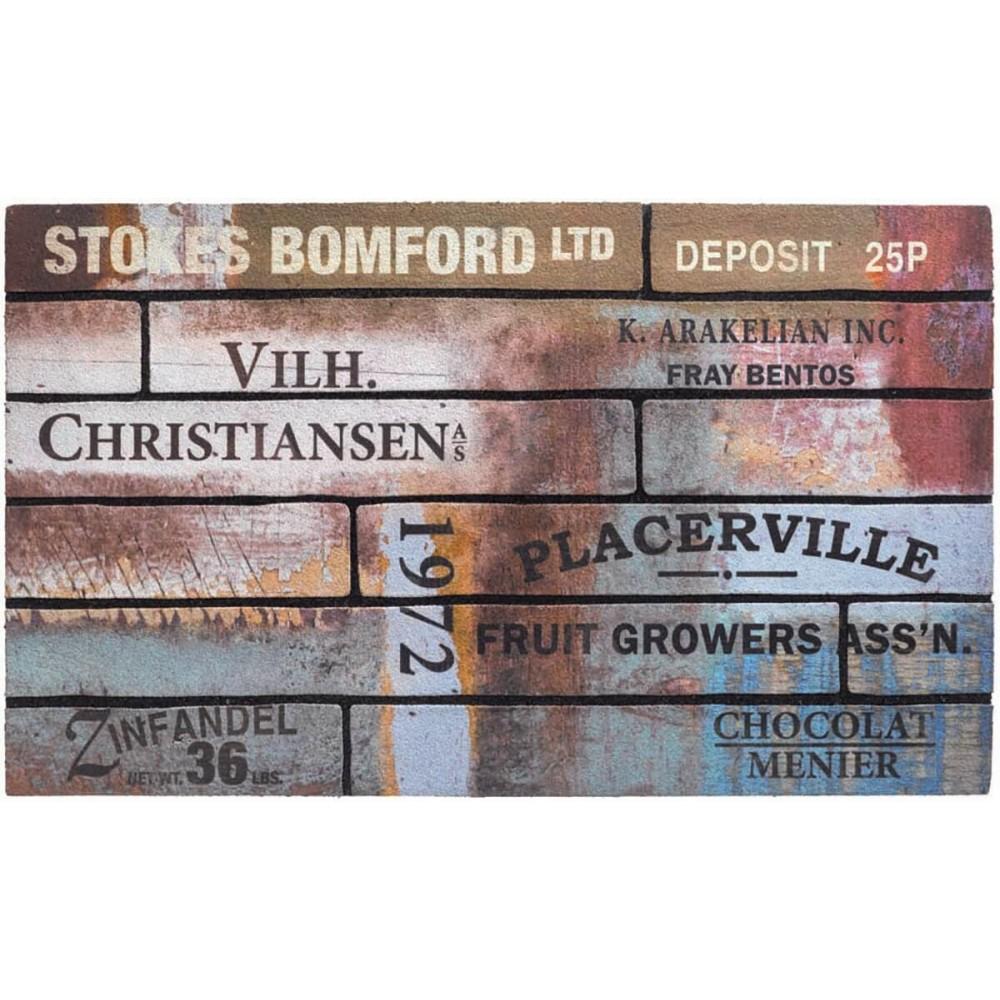 Χαλάκια εισόδου Ecomat 038 scrapwood vintage 45x75cm