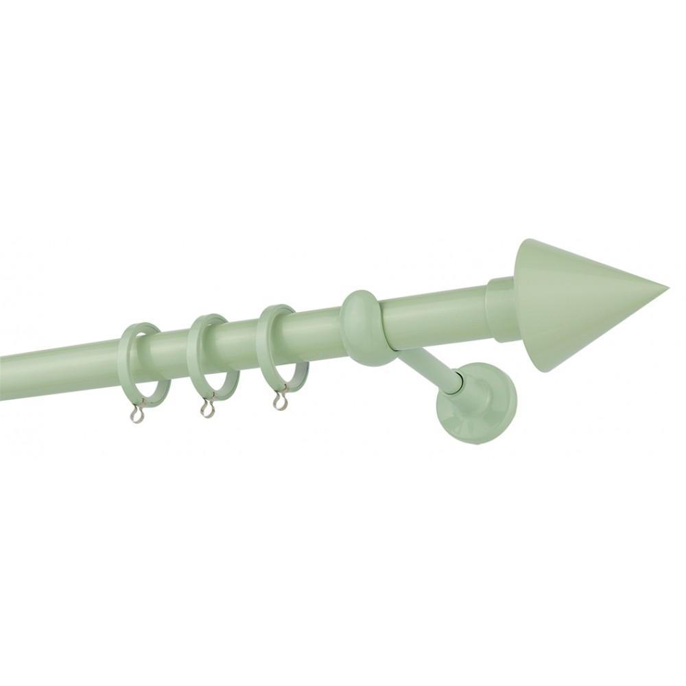 Κουρτινόξυλο μονό εφηβικό-παιδικό Φυστικί Color Pop Zogometal Φ25mm CP4146