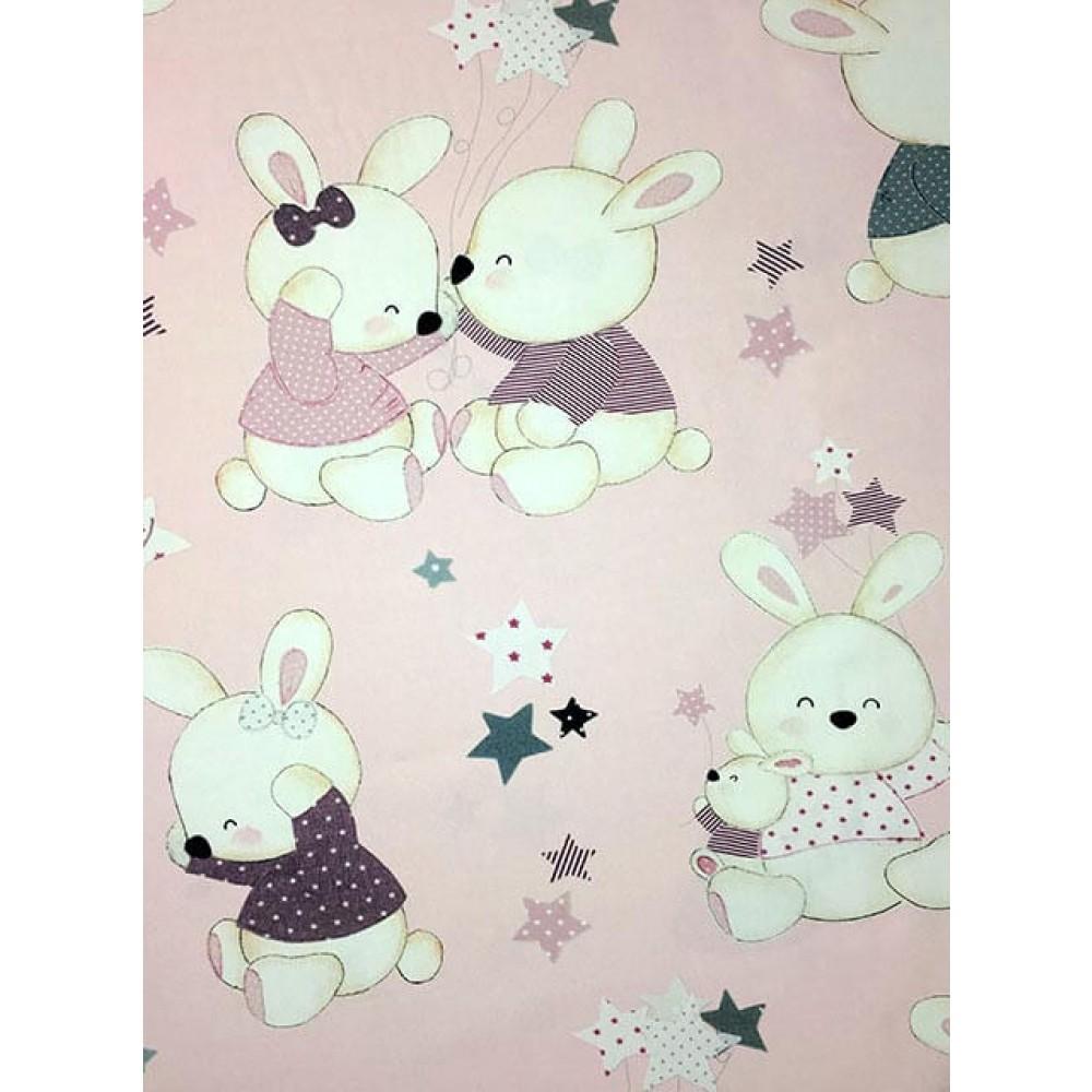 ύφασμα 5-2223 dream rabbit pink