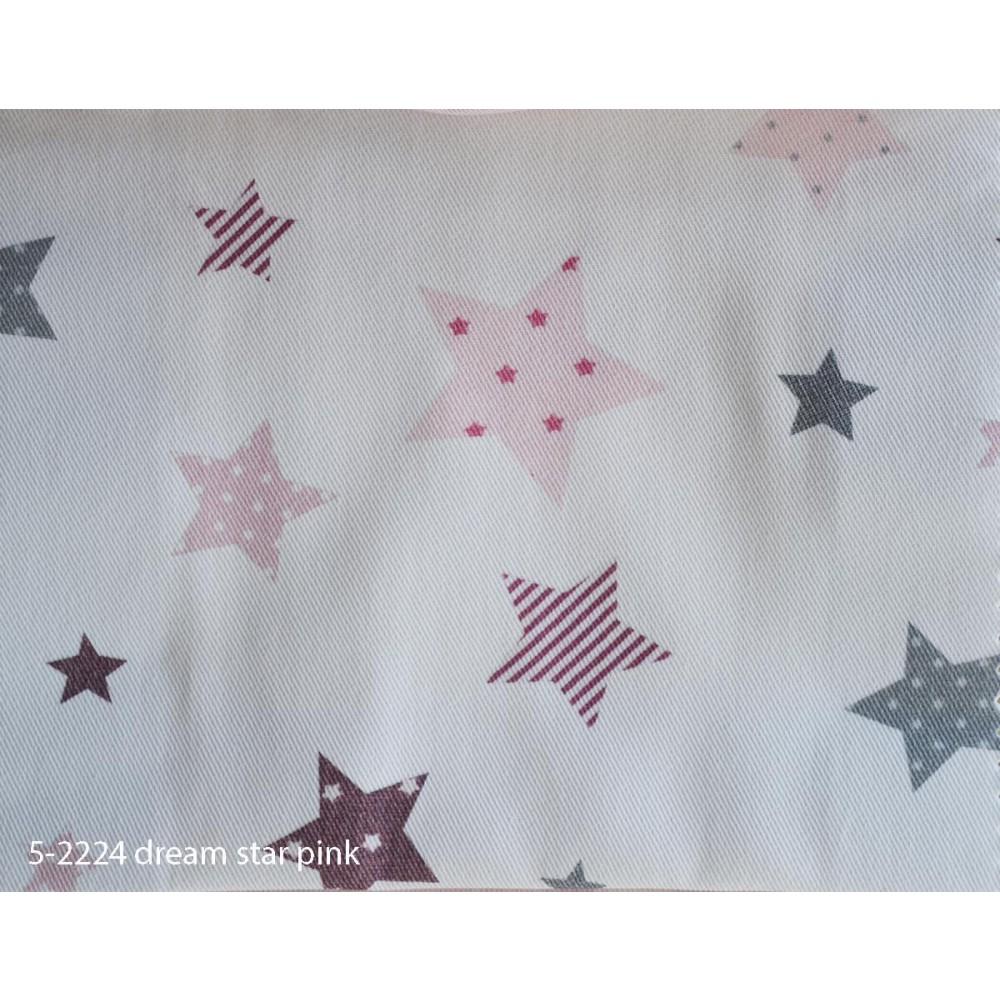 Ύφασμα παιδικό με το μέτρο Dream star pink 5-2224