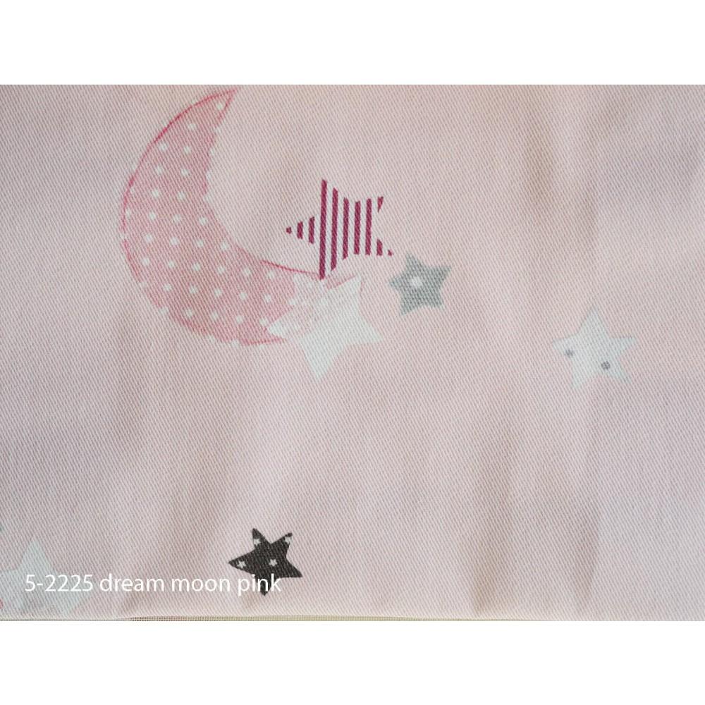 Ύφασμα παιδικό με το μέτρο Dream moon pink 5-2225