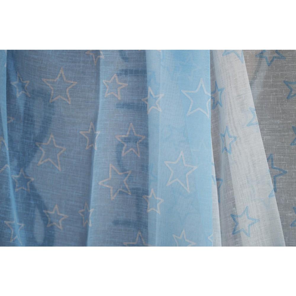 Κουρτίνα εφηβική με το μέτρο Stars light blue