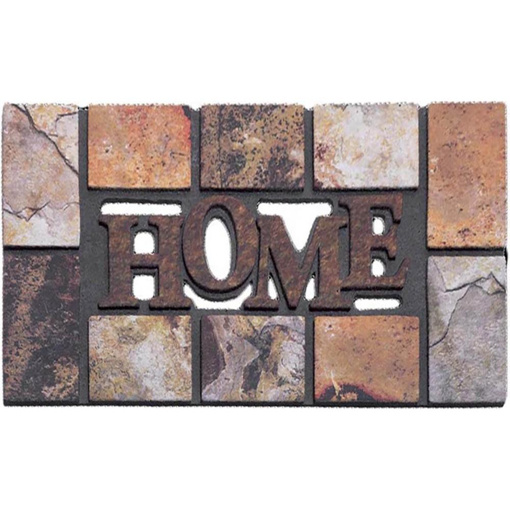 Χαλάκια εισόδου Ecomat 705 home slate beige 45x75cm