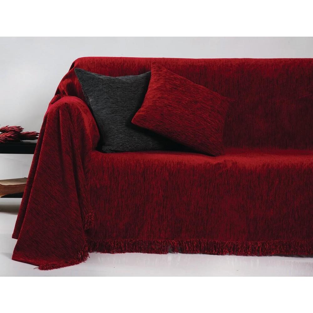 Ριχτάρια ζακάρ Chenille Unicolor Anna Riska 1300 Red