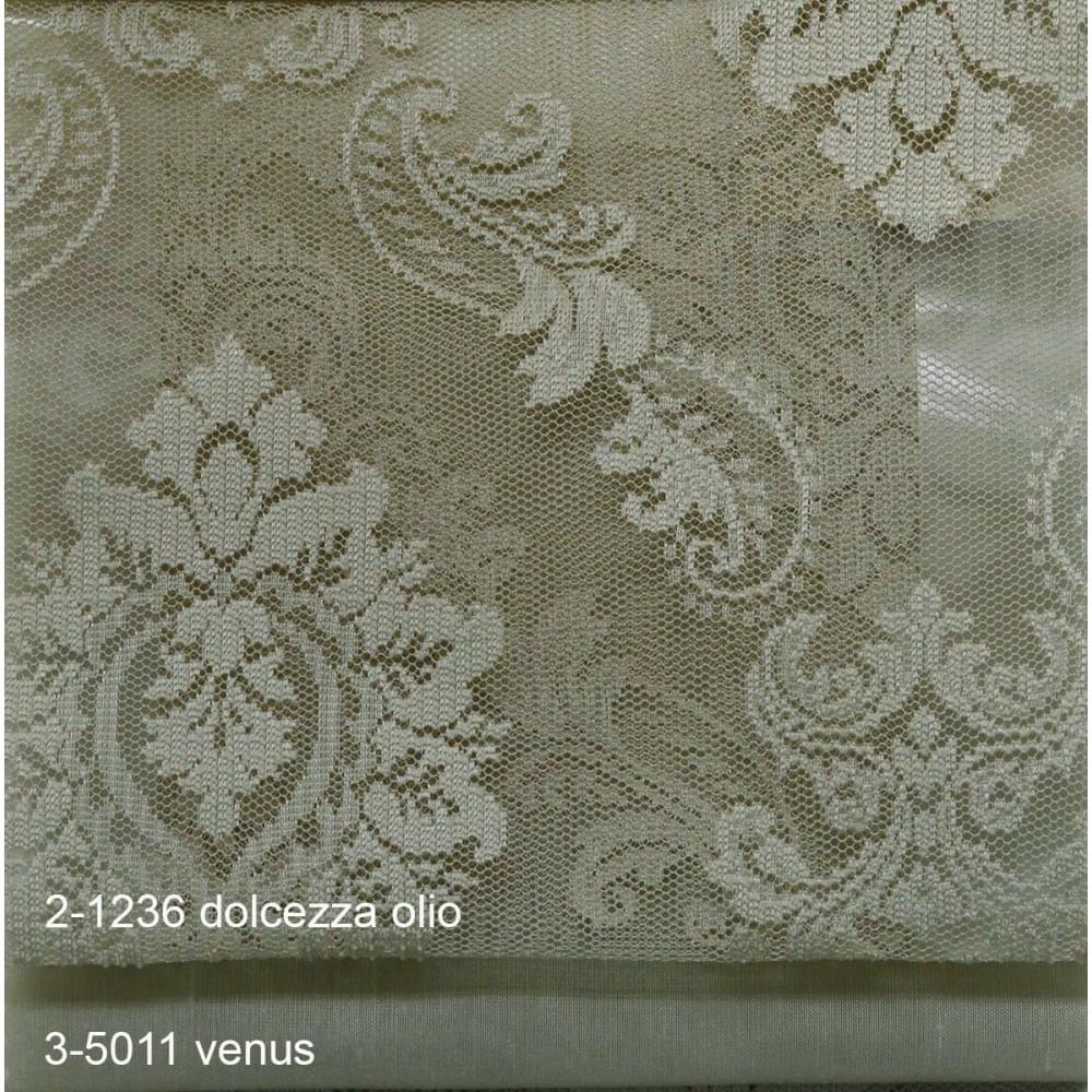 Κουρτίνες δαντέλες σετ Dolcezza 2-1236 Olio