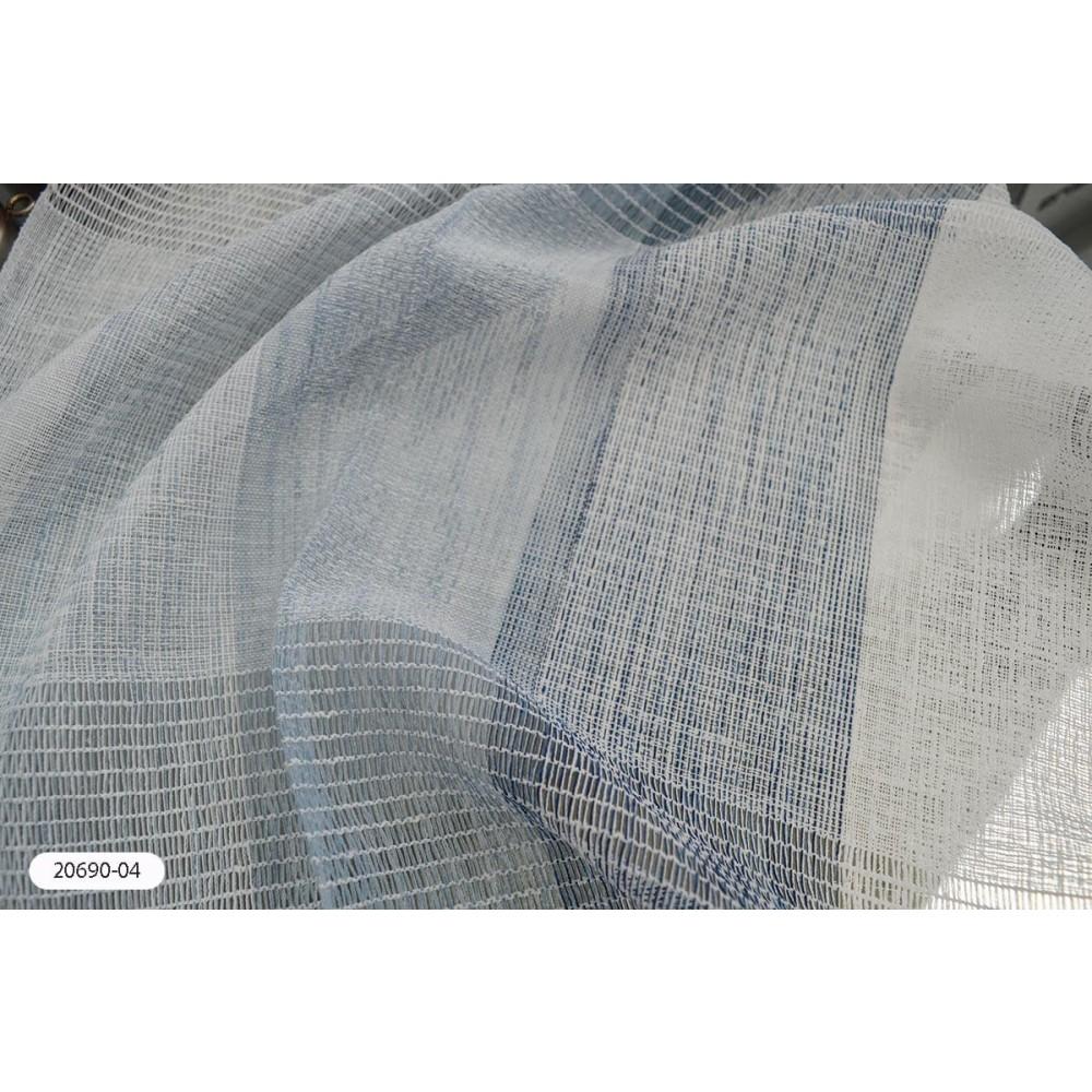 Κουρτίνα ριγέ μπλε ημιδιάφανη με το μέτρο 20690-04