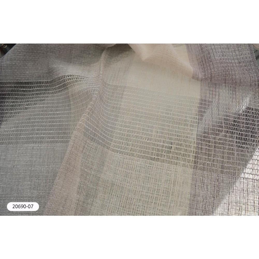 Κουρτίνα ριγέ λιλά ημιδιάφανη με το μέτρο 20690-07