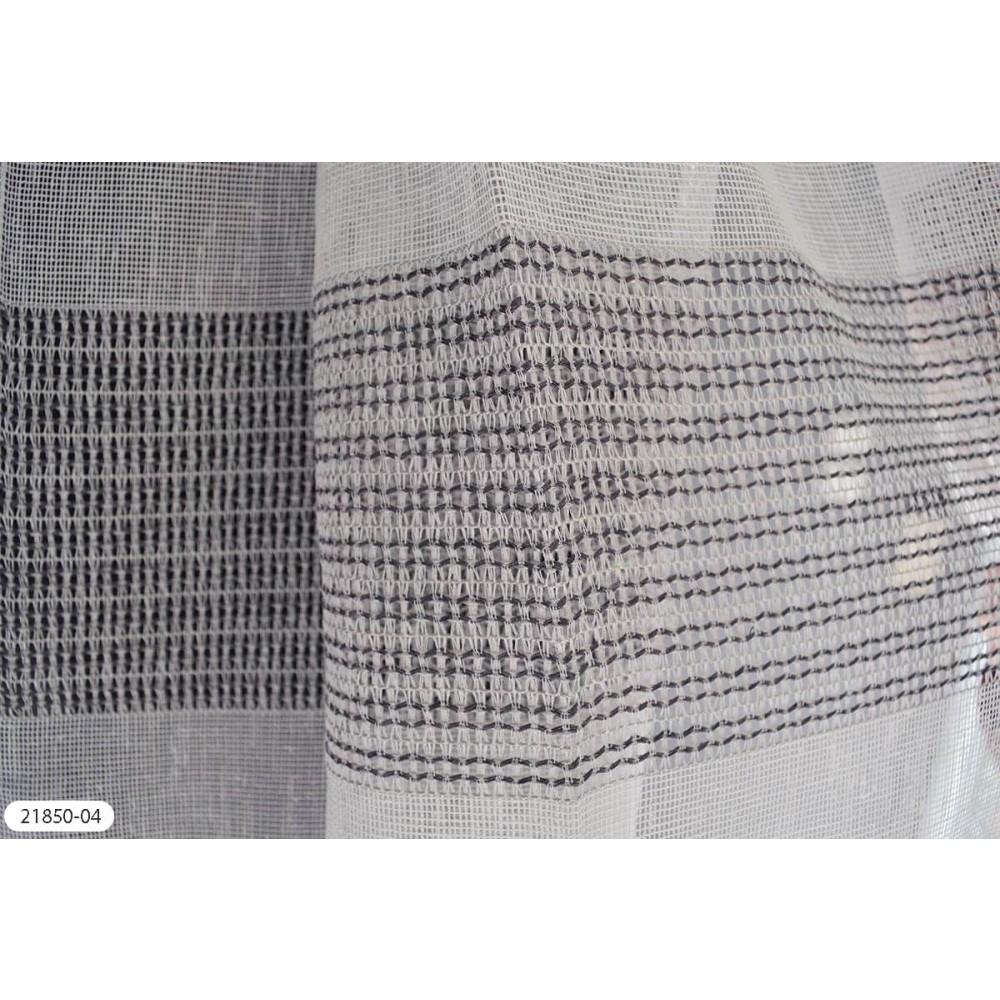 Κουρτίνα ριγέ γκρι ημιδιάφανη με το μέτρο 21850-04