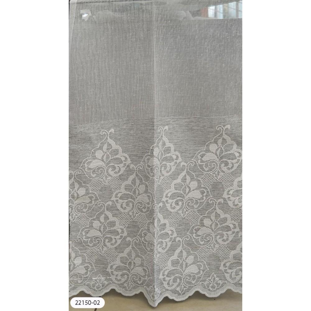 Κουρτίνες κεντημένες ημιδιάφανες με το μέτρο 22150-02