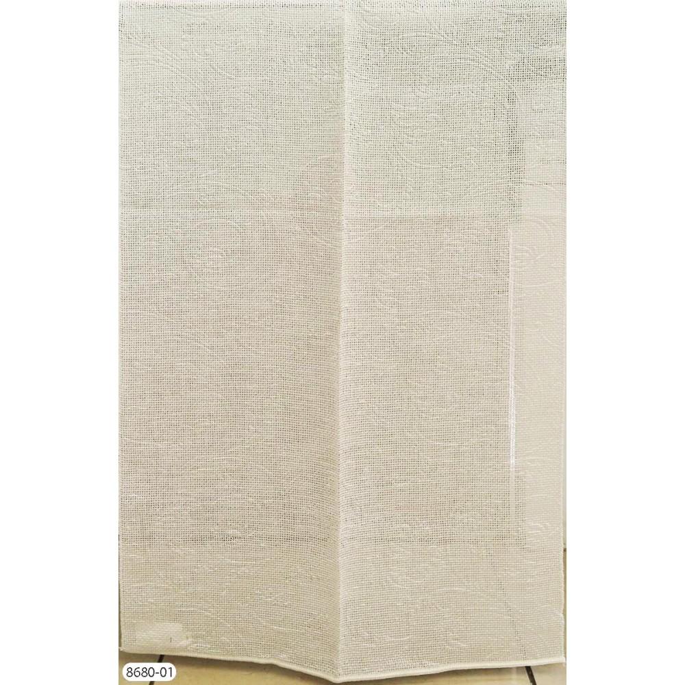 Κουρτίνα ανάγλυφη εκρού με το μέτρο empossed 8680-04