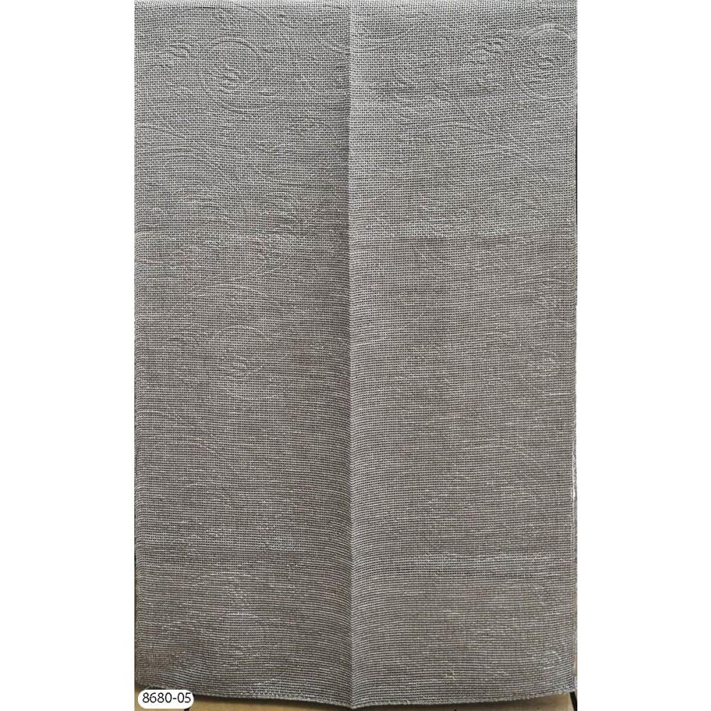 Κουρτίνα ανάγλυφη γκρι με το μέτρο empossed 8680-05