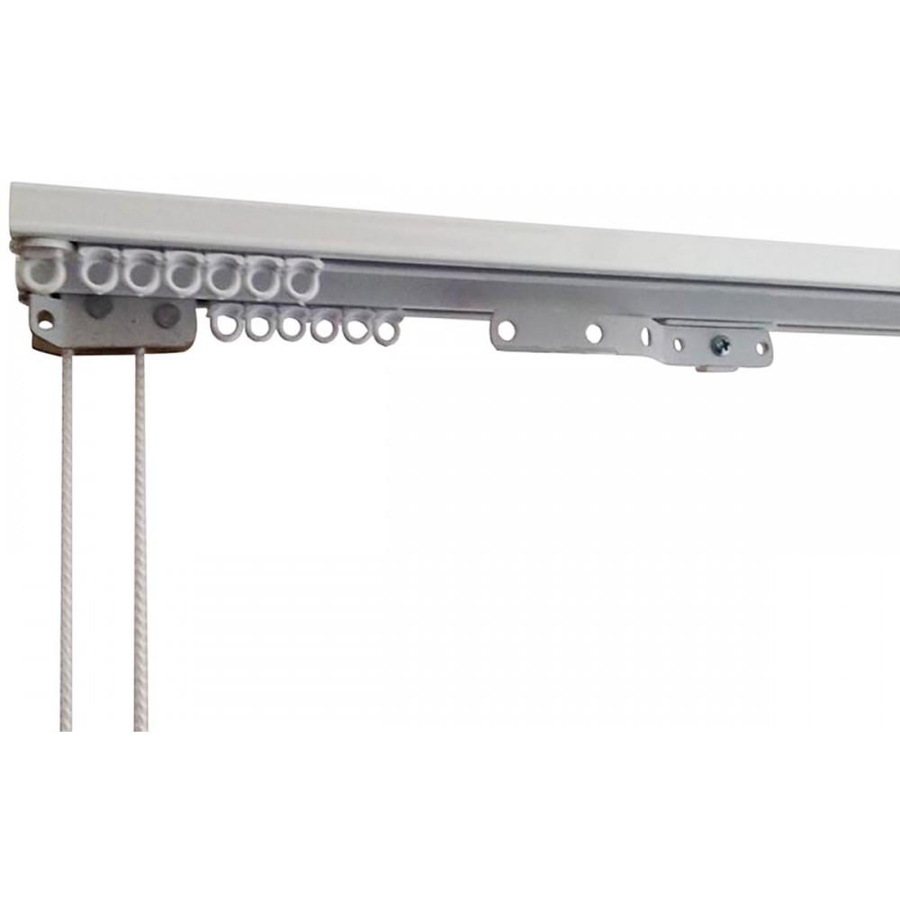 Σιδηρόδρομος αλουμινίου διπλός λευκός Δανίας 4.5 cm_