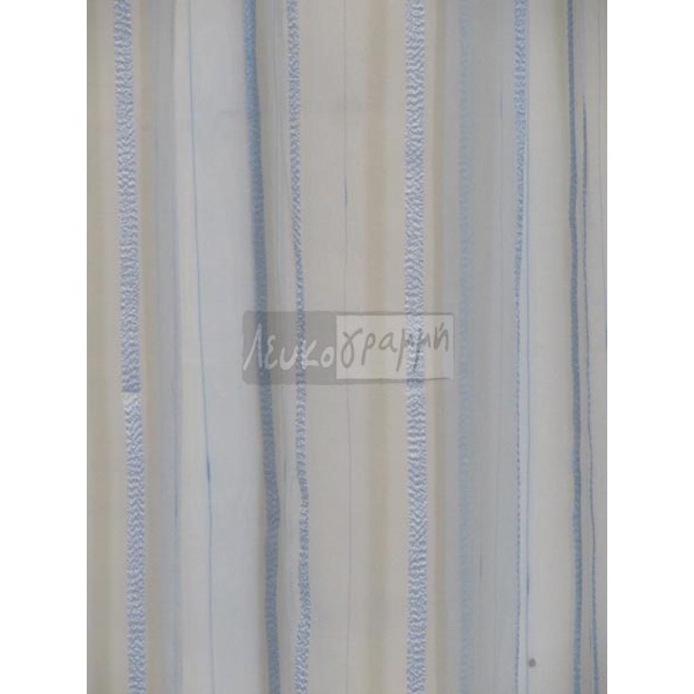 Κουρτίνα Οργάντζα έτοιμη με τρέσα Striped 3m