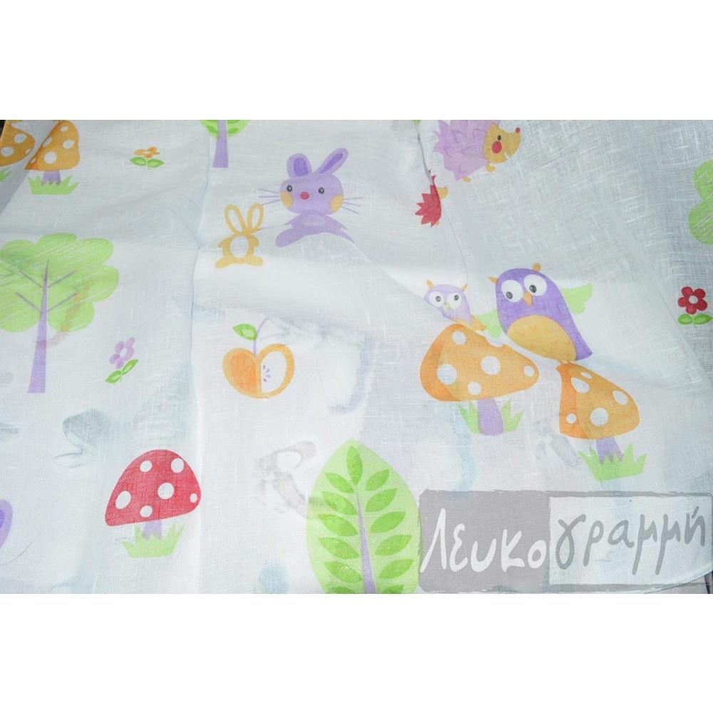 κουρτίνα παιδική εμπριμέ Forest 5-2091