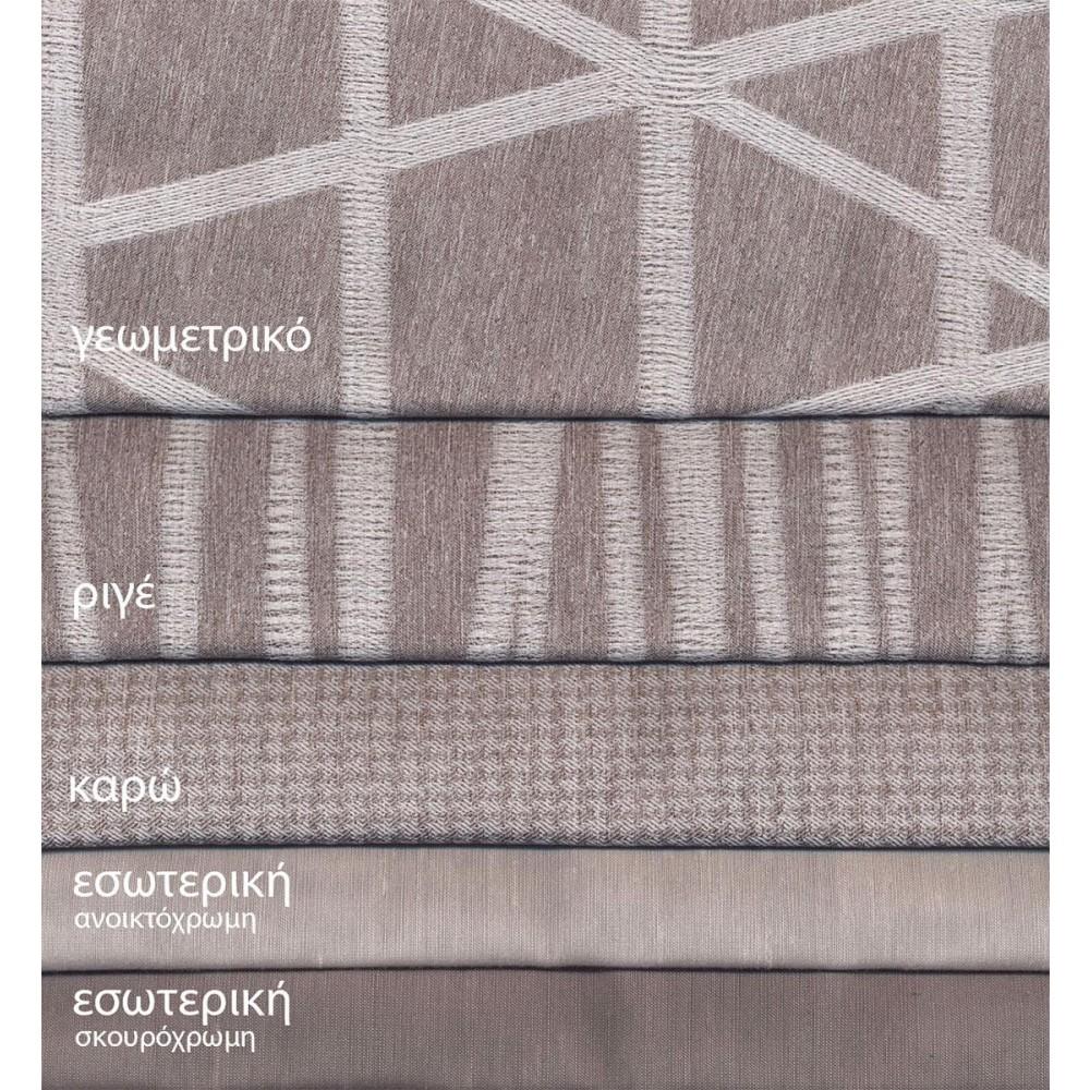 Κουρτίνες σαλονιού κομποζέ grey 5647 με το μέτρο