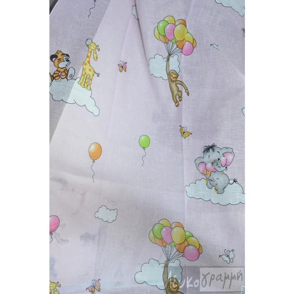κουρτίνα παιδική εμπριμέ Jumbo Pink 5-2089