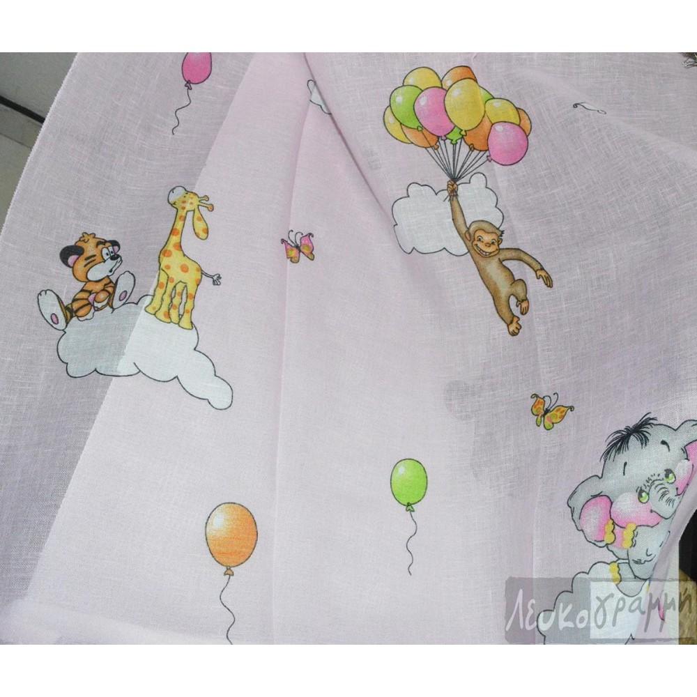 κουρτίνα παιδική εμπριμέ Jumbo Pink