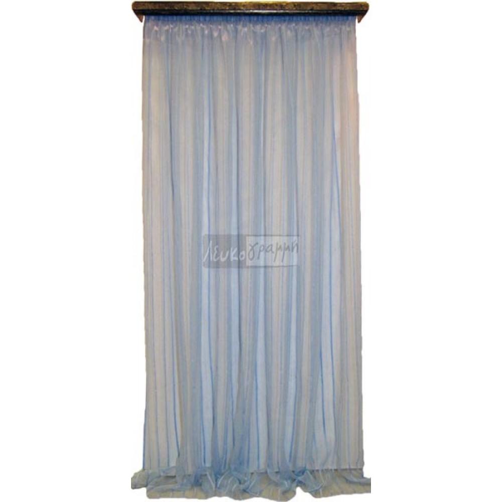 Κουρτίνα Οργάντζα έτοιμη με τρέσα Striped 3 m